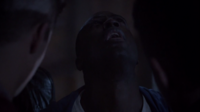 Teen Wolf Season 3 Episode 7 Currents Sinqua Walls Boyd impaled on Derek's claws