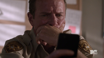 Teen Wolf Season 3 Episode 19 Letharia Vulpina Linden Asby Sheriff Sad