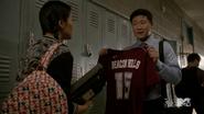 Teen Wolf Season 4 Episode 5 IED Kira and dad lacrosse jersey