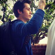 Teen Wolf Season 5 Behind the Scenes Dylan O'Brien greets students at Pali 021115