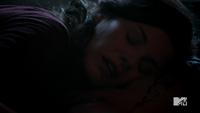Teen Wolf Season 2 Episode 6 Motel California Haley Webb Jennifer Blake listens for Derek Heartbeat