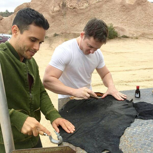 Teen Wolf Season 5 Behind the Scenes Daniel Flores Jeff Davis wardrobe work Vasquez Rocks 091615.jpg
