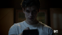 Teen Wolf Season 2 Episode 6 Motel California Daniel Sharman Isaac watches static