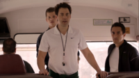 Teen Wolf Season 3 Episode 6 Motel California Orny Adams Charlie Carver Keanu Kahuanui Coach Finstock Ethan Danny Bus