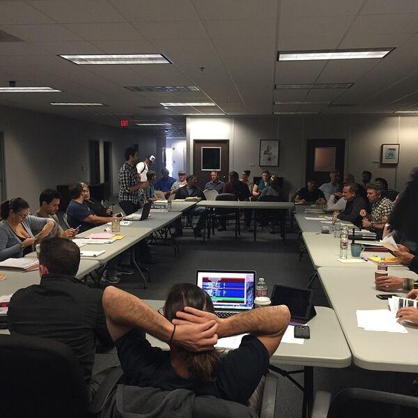 Teen Wolf Season 5 Producers Meeting TWHQ wide shot 020515.jpg