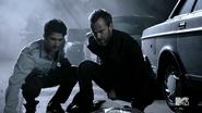 Teen Wolf Season 4 Episode 5 IED Scott and Chris investigate Demarco