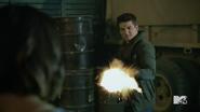 Teen Wolf Season 5 Episode 14 The Sword and the Spirit Theo shoots Malia