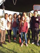 Teen Wolf Season 5 Behind the Scenes Cast photo Woodley Park 030315