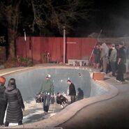 Teen Wolf SEason 5 Behind the Scenes humpbowl skate pool 022515