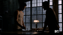 Teen Wolf Season 3 Episode 22 De Void Derek and Peter Chess