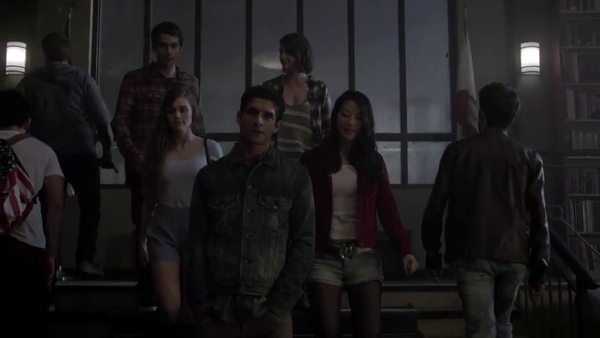 Teen Wolf News Core Cast in the library.png