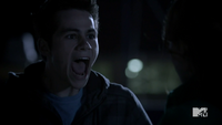 Teen Wolf Season 3 Episode 3 Fireflies Dylan O'Brien Stiles yelling at Lydia