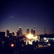 Teen Wolf Season 5 Behind the Scenes skyline 6th Street Bridge location 030515
