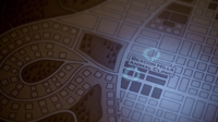 Teen Wolf Season 3 Episode 7 Currents Map close up features Animal Clinic and Circle Street