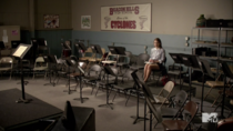 Teen Wolf Season 3 Episode 4 Unleashed Holland Roden Lydia in Band Classroom