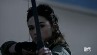 Teen Wolf Season 3 Episode 3 Fireflies Crystal Reed Allison Argent takes aim