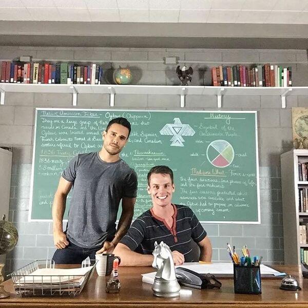 Teen Wolf Season 5 Behind the Scenes Daniel Flores Jason King classroom 093015.jpg