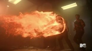 Teen Wolf Season 5 Episode 15 Amplification Parrish being thrown