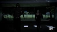 Teen Wolf Season 3 Episode 3 Fireflies Sinqua Walls Adelaide Kane Boyd and Cora Run to School