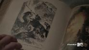 Teen Wolf Season 5 Episode 17 A Credible Threat Library book of Hellhound