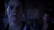 Teen Wolf Season 3 Episode 9 The Girl Who Knew Too Much Dylan O'Brian Stiles worried.png
