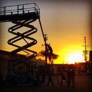 Teen Wolf Season 5 Behind the Scenes 6th Street Bridge location 030515