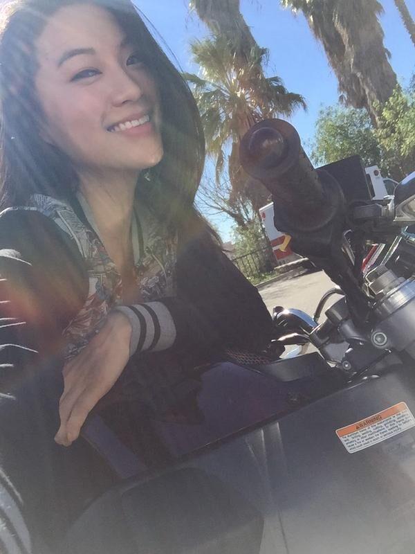 Teen Wolf Season 5 Behind the Scenes Arden Cho motorcycles 021015.jpg
