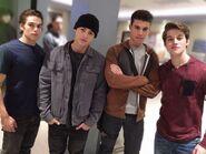 Dylan Sprayberry Cody Christian Andrew Matarazzo froy gutierrez on set at Teen Wolf