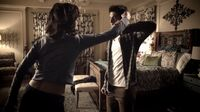 Teen Wolf Season 3 Episode 5 Frayed Crystal Reed Tyler Posey Scott McCall and Allison Argent spar in her room