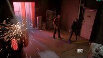 Teen Wolf Season 5 Episode 4 Condition Terminal kira breaks the larm at Club