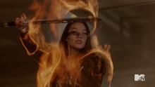Teen Wolf Season 5 Episode 3 Dreamcatcher Kira aura close-up