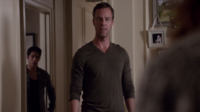 Teen Wolf Season 3 Episode 7 Currents JR Bourne Tyler Posey Scott sneaks out behind Chris Argent