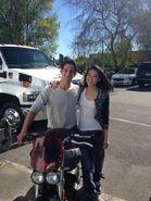 Teen Wolf Season 5 Behind the Scenes Tyler Posey Arden Cho motorcycle