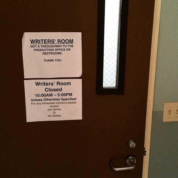 Teen Wolf Season 5 Behind the Scenes Writers room 040815.jpg