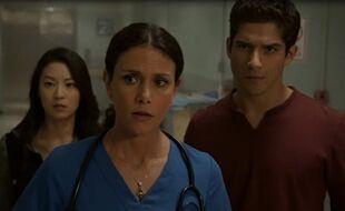 Teen Wolf Season 5 Episode 4 Condition Terminal Mellissa Show Scott and Kira a patient in Pain