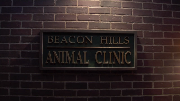 Teen Wolf Behind the Scenes Beacon Hills Animal Clinic Sign.png