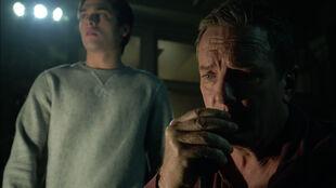 Linden-Ashby-Dylan-Sprayberry-Sheriff-Stilinski-Liam-at-station-Teen-Wolf-Season-6-Episode-9-Memory-Found