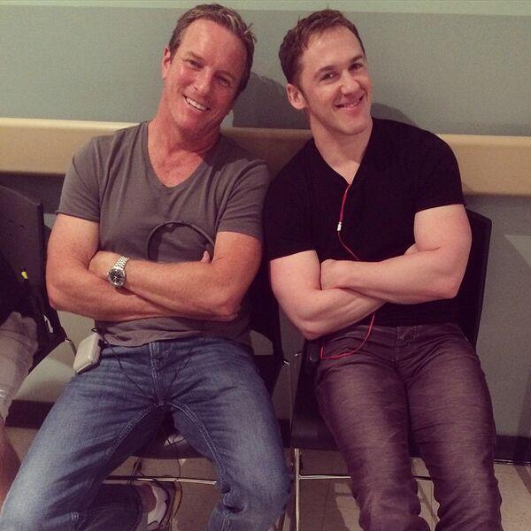 Teen Wolf Season 5 Behind the Scenes Linden Ashby Jeff Davis Beacon Hills Hospital set 041315.jpg