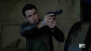 Teen Wolf Season 4 Episode 12 Smoke & Mirrors Parrish takes aim