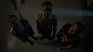 Victoria-Moroles-Dylan-Sprayberry-Khylin Rhambo-Hayden-Liam-Mason-looking-at-vent-Teen-Wolf-Season-6-Episode-1-Memory-Lost