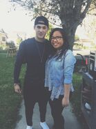 Teen Wolf Season 5 Behind the Scenes Cody Christian with fan location unknown 022415