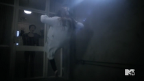 Teen Wolf Season 5 Episode 14 The Sword and the Spirit Meredith pushes Lydia