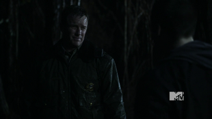 Dad catches Stiles in the woods