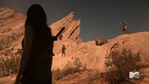 Teen Wolf Season 5 Episode 13 Codominance Skinwalkers overlooking Kira