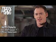 Teen Wolf Season 7 - Jeff Davis Official Statement
