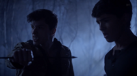 Teen Wolf Season 3 Episode 8 Visionary Ian Nelson Michael Fjordbak Young Peter saves Young Derek