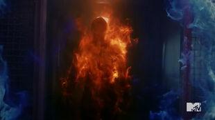 Teen Wolf Season 5 Episode 16 Lie Ability Parrish burns through mountain ash