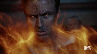 Teen Wolf Season 5 Episode 20 Apotheosis Parrish on fire