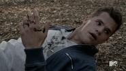 Teen Wolf Season 3 Episode 23 Insatiable Ethan hit with wolfsbane bullet