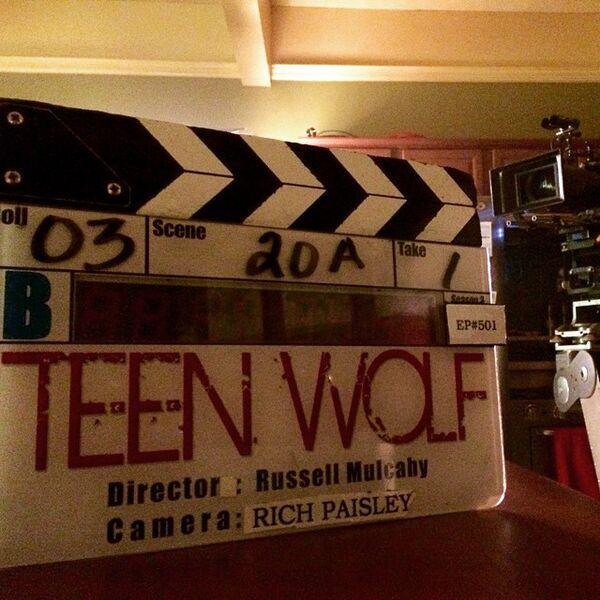 Teen Wolf Season 5 Behind the Scenes Episode 501 Marker McCall home set 020915.jpg